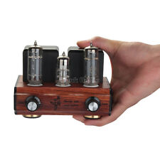 6N3+6P1 Mini Tube Audio Power Amplifier Stereo Amp Nature Exquisite Wood Chassis