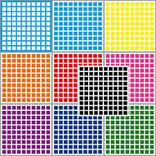 1000 Adhesivo Cuadrados 10mm Autoadhesivo Pegatina PVC Etiquetas Inventario