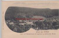 (109266) AK Gruß aus Wildbad, Schwarzwald, Olgastraße, Kernerstraße, Kirche 1902