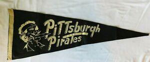Rare 1940s PITTSBURGH PIRATES  Pennant Flag - Baseball Pennsylvania