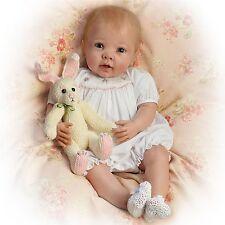 Ashton Drake - Bunny Hugs Poseable Baby Girl Doll & Bunny Friend by Linda Murray