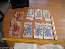 Davy Crockett vintage lot of iron on transfers 1970's