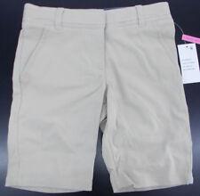 Girls Nautica Khaki SKINNY Bermuda Uniform/casual Shorts Size 7 - 16 Khaki 8