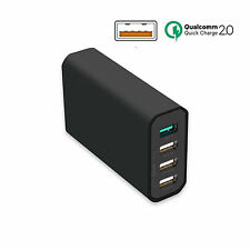 Qualcomm Wall Charger Quick Charge 2.0 Multi 4 Port USB  Universal Power Adapter