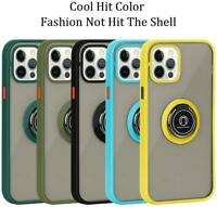 For iPhone 12 15ft Drop Tested Protective Clear Case Ring Magnetic Car Mount
