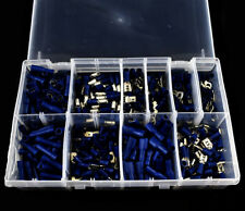 400 BLUE ASSORTED INSULATED ELECTRICAL WIRE TERMINALS CRIMP CONNECTORS SPADE KIT