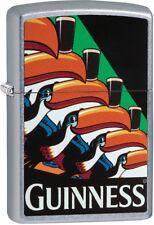 Zippo Guinness Beer Toucan WindProof Lighter Street Chrome 29647 NEW L@@K