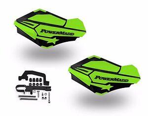 PowerMadd Sentinel Handguard Hand Guards Kit Black Green Snow Snowmobile Hayes