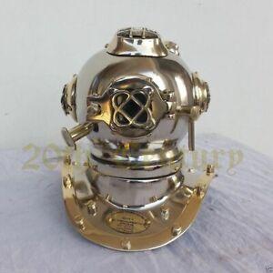 Mini Divers Diving Helmet Vintage Style U.S Navy Mark IV Antique Scuba SCA Gift