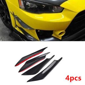 Front Bumper Lip Splitter Fins Body Spoiler Canards Kit For Honda Civic Mazda 3