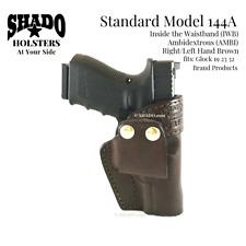 SHADO Leather Holster Standard Model 144A AMBI IWB Brown Glock 19/23/32 Brand