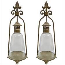 2 style ancienne lampe lanterne bougeoir tempete a bougie lsutre lampe fer 46cm