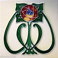 10 FAVOLOSO Art Nouveau missione CAMINO Piastrelle maiolica tubelined perfetto NR