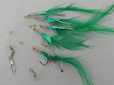 5 Hook Lumi Head Hokkai Rig  (5 packs) mackerel feathers/bass/pollock/cod/boat