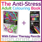 COLOUR THERAPY ANTI-STRESS adulti LIBRO DA COLORARE 160pgs with 12 Colouring