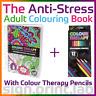 COLOUR THERAPY ANTI-STRESS adulti LIBRO DA COLORARE 160pgs with 12 Colouring