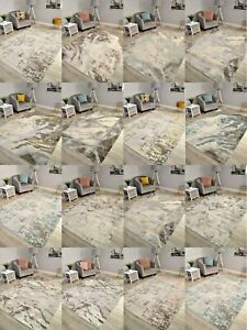 Marble Effect Living Room Rugs Modern Small Extra Large Floor Carpets Mats Cheap