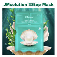 [JM Solution] Marine Luminous Pearl Deep Moisture 3 Step Mask (10 sheets)