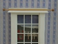 Dolls House Miniature 1/12th Scale Pk of 4 Wooden Curtain Poles C92