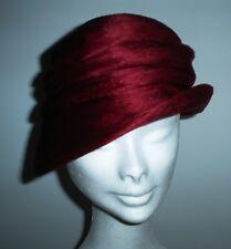 cappello donna , primi '900, lana bordò, perfetto.