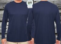 Microfiber Long Sleeve Fishing Shirt Performance Dry Fit  UPF/SPF 50+ Navy