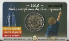 """2 euro Belgio 2015 coincard """"Anno europeo dello sviluppo"""" vers.francese"""