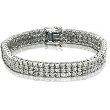 3 Row Diamond Tennis Bracelet White Gold Finish 1.00 CTS