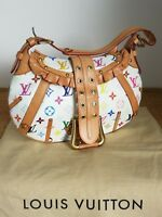 Authentic Louis Vuitton Limited Edition White Monogram Multicolore Leonor Bag