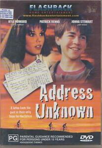 ADDRESS UNKNOWN DVD - 1997 Kyle Howard