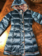 Lands End Girls Green Long Coat M(5-6)
