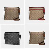 Authentic Coach F29210 F39041  F73157 Signature Zip File Crossbody Handbag Bag