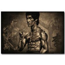 Cartel de Bruce Lee Master leyenda de seda 12x18 24x36 pulgadas Kung Fu Star