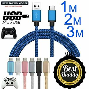 3M Micro USB Black Charging Cable For Xbox One 1 Controller Charger Lead Wire