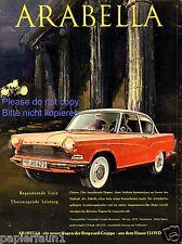 Lloyd Arabella XL Reklame von 1959 Borgward Gruppe Werbung Hansa Bremen