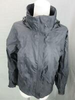 Columbia Titanium Size S Womens Black Full Zip Hooded Windbreaker Jacket T211