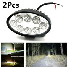 Energy Saving 2X 24W LED Oval Driving Light Car Truck Off-Road Flood Work Light