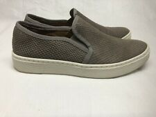 Sofft Women's Brown Leather Slip Ons Shoes Reptile Pattern Sneakers Size 8M