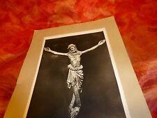 ancienne photo noir blanc  papier glacé ,le christ