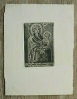 Kupferstich Stich Aue gratia plena Dominus Tecum Mutter Gottes Jesus Nimbus