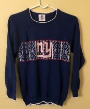 Youth Kids New York Giants Ugly Christmas Blue Sweatshirt (Youth Medium)