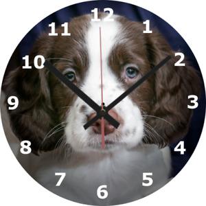 WALL CLOCK PUPPY 25cm Pet Dog Animal Home Furniture Home Decor decoration 600