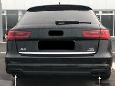 Top Links+Rechts Schwarz Edelstahl Auspuffblende Abdeckung Audi A6 4G5 C7 Avant