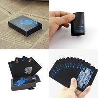 Black Poker Playing Cards PVC Plastic Decks Waterproof Table Games Magic Gifts