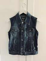 Dolce & Gabbana, D&G, True VINTAGE 90's Denim jacket, sleeveless Size XS