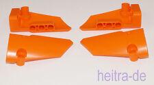 Tecnologia LEGO - 4 X Panel #3 e #4 7x3x2 arancione (2 coppie) 64683 64391 Merce Nuova