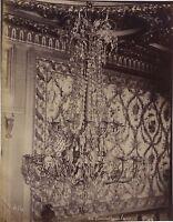 FRANCE Fontainebleau Château Lustre Photo Vintage Albumine ca 1880
