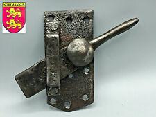 Ancien GROS Loquet à Fléau Bascule en Fer Forgé Targette Antique Door Lock
