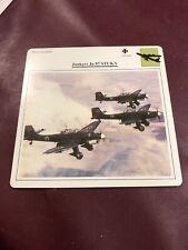 Junkers Ju 87 Stuka- Germany- Dive Bomber Postcard