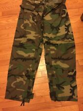 US Army Improved Rainsuit Combat Trousers Woodland BDU Large New with Tags