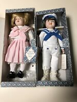 """Lot Of 2 """"Days Gone By Dolls"""" Andrew And Andrea 12"""" NIB"""